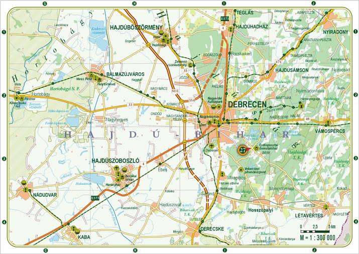 térkép debrecen környéke VÁROSKÉP, útikönyv és térkép, idegenforgalmi kiadvány, Debrecenr térkép debrecen környéke