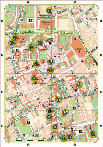 debrecen belváros térkép nyomtatható VÁROSKÉP, útikönyv és térkép, idegenforgalmi kiadvány, Debrecenr debrecen belváros térkép nyomtatható